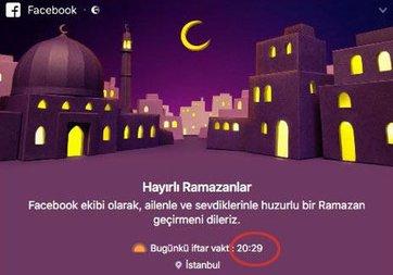 Facebook, İstanbullu kullanıcıların iftarını erken açtırdı