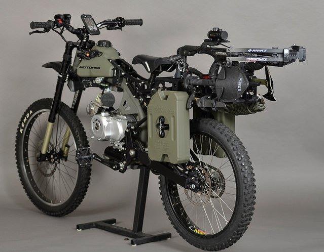 Zombiler dünyanın sonunu getirirse bu motosiklet savaşa hazır olacak