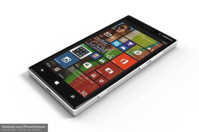Nokia by Microsoft markalı Lumia 830 nasıl gözükecek?