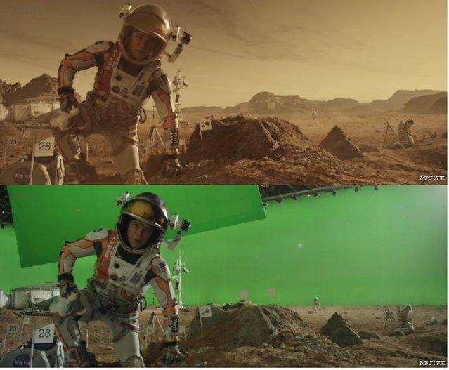 Marslı filmi 'efektsiz' nasıl olurdu?