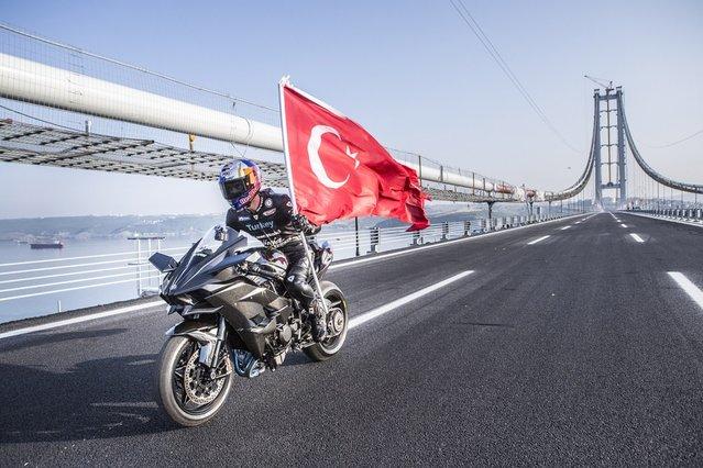 Kenan Sofuoğlu, Osmangazi Köprüsü'nde rekoru kırdı
