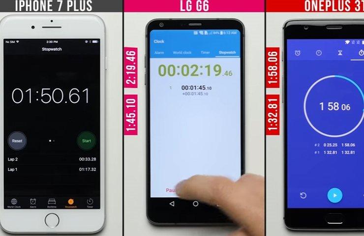 LG G6, İPHONE 7 PLUS VE ONEPLUS 3T HIZ TESTİNDE