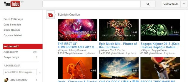 Youtube'daki video klipleri mp3 olarak indirme