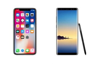 Apple iPhone X mi Galaxy Note 8 mi?