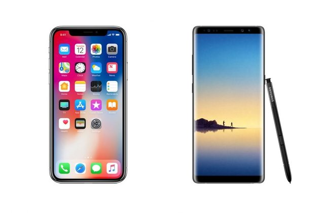 Apple iPhone X mi Galaxy Note 8 mi?