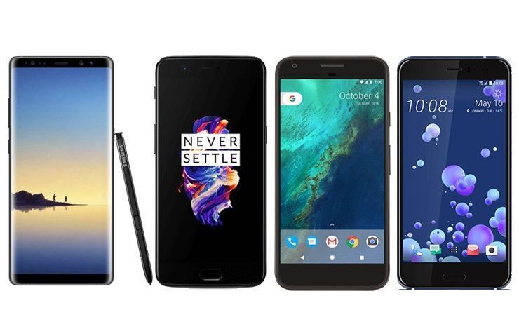 GALAXY NOTE 8 VS ONEPLUS 5 VS GOOGLE PİXEL XL VS HTC U11!