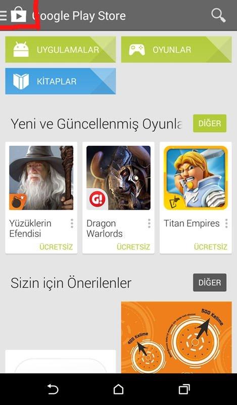 Google Play Store'da uygulamalar listesinden bir uygulama nasıl kaldırılır?