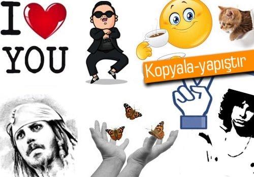Facebook sohbet için eğlenceli ifadeler (Smileys)