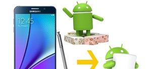 Galaxy Note 5, Android 6.0 Marshmallow'a nasıl geri döndürülür?