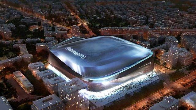 İşte Real Madrid'in tamamen titanyum kaplı yeni stadyumu