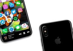 Touch Bar özelliğine sahip iPhone 8 konsepti