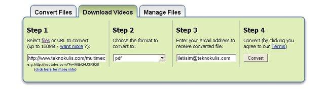 Dosya türünü online olarak dönüştürün