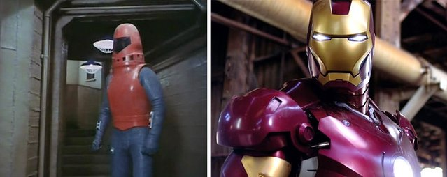 Süper kahramanların geçmişteki ve şimdiki halleri nasıl görünüyor?