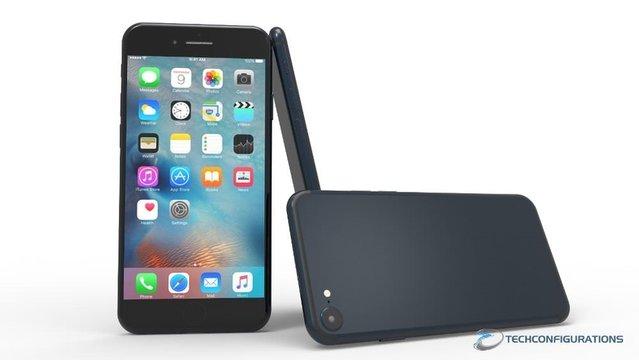 Kapasitif ana tuşa sahip lacivert iPhone 7 konsepti!