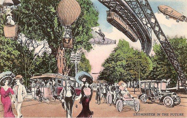 1910'da hayal edilen 2000 yılı