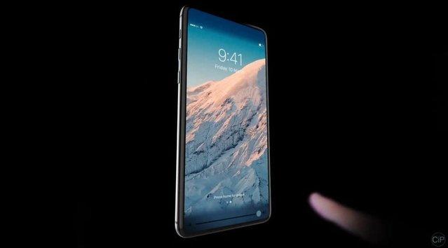 Tam ekranlı çerçevesiz iPhone 8 konsepti