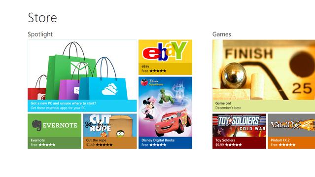 Windows 8'in Windows Store'u tanıtıldı