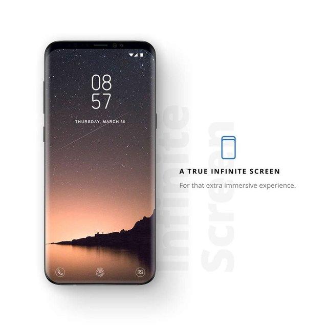 Samsung Galaxy S8'in ekranını daha da büyüttü