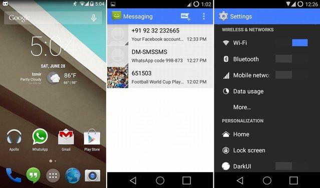 Telefonunuz hemen Android L'li gözüksün ister misiniz?