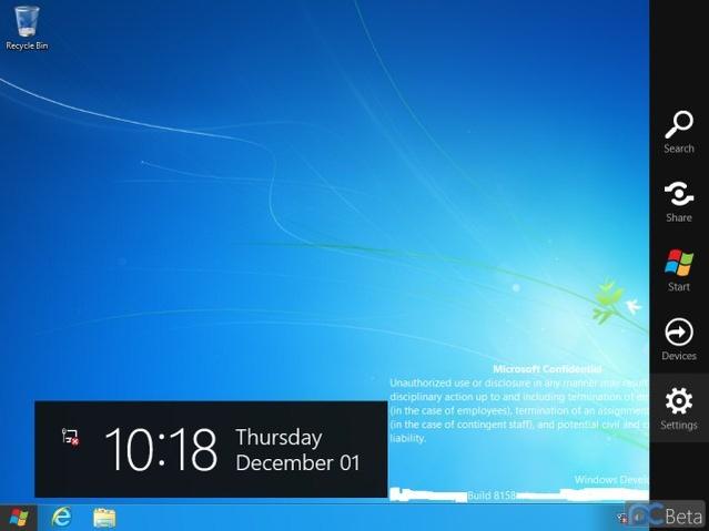 Windows 8 Build 8158 ekran görüntüleri