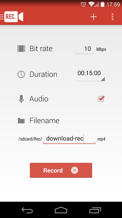 Android'de ekran görüntüsünü videoya alma