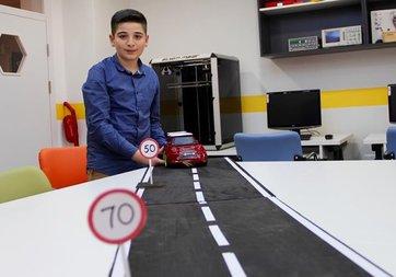 BİLSEM öğrencisinden 'akıllı hız kontrol sistemi'