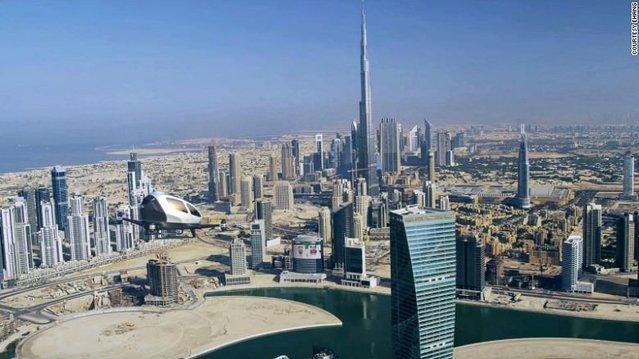 Dubai'de sürücüsüz uçan taksiler hizmete başlıyor!