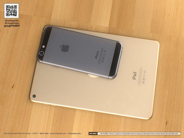 iPhone 6 ve iPad mini 3 için etkileyici konsept çalışması