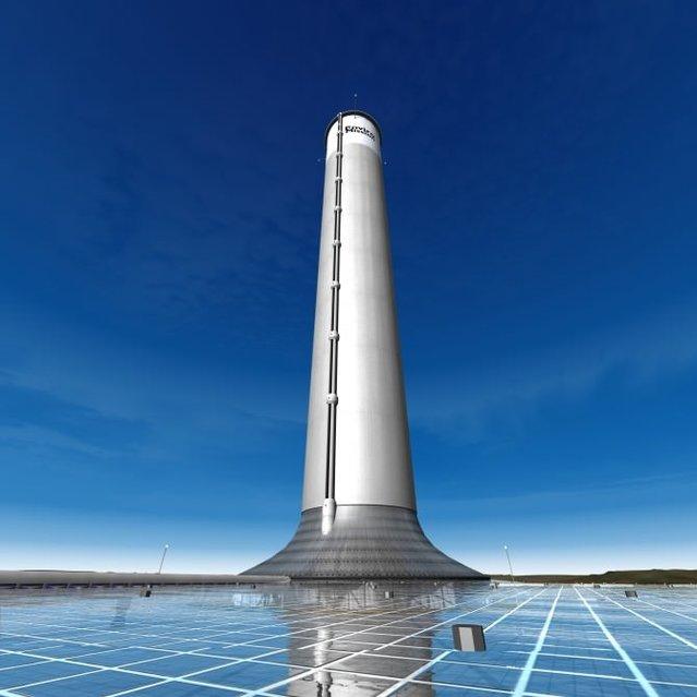 800 metreden yüksek güneş enerjisi kulesi