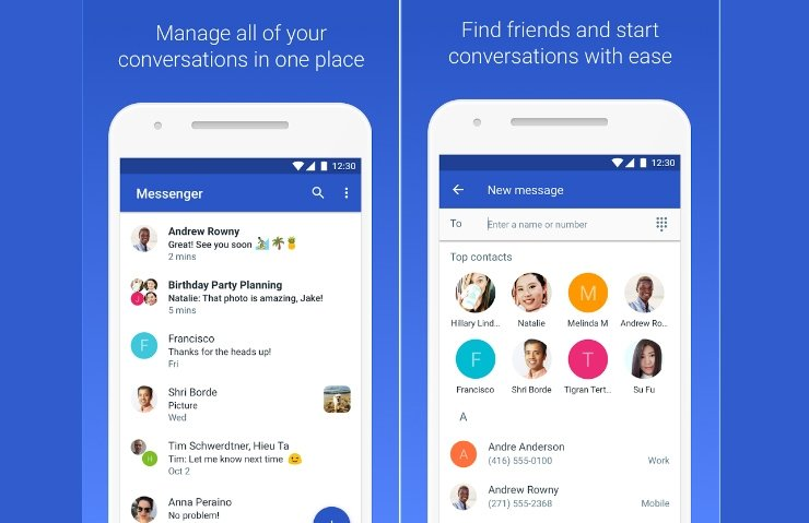 GOOGLE MESSENGER'IN ADI ANDROİD MESSAGES OLDU!