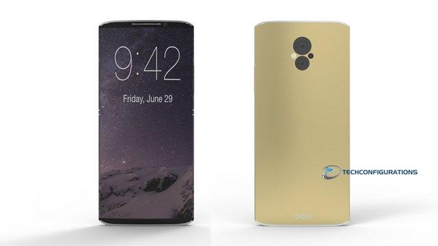 Patentlere göre kavisli ekranlı iPhone 8 böyle görünüyor