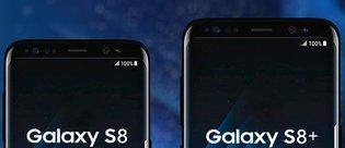 Galaxy S8 ve Galaxy S7'ler boyut karşılaştırmasında