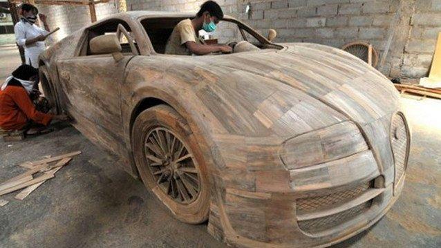Bu da marangozdan çıkma Bugatti Veyron