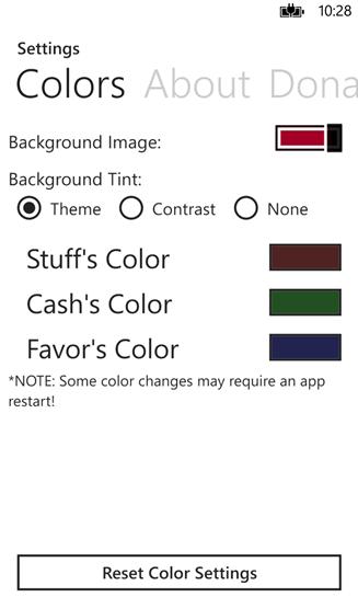 WP8 için ödünç eşya uygulaması