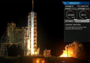 Falcon 9 roketi yeni görev için uzaya fırlatıldı