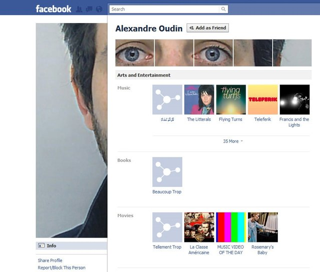 Yaratıcı, yeni Facebook profilleri