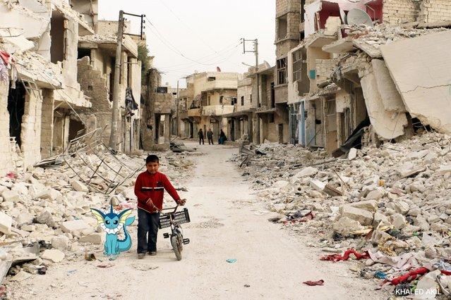 Suriyeli sanatçı Pokemon Go ile savaş alanını birleştirdi