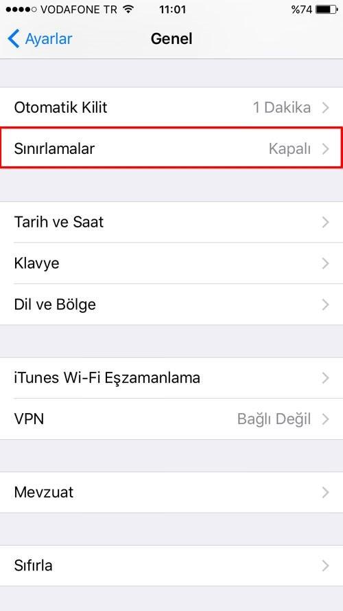 iPhone'da uygulamaların yüklenmesi veya silinmesi nasıl engellenir?