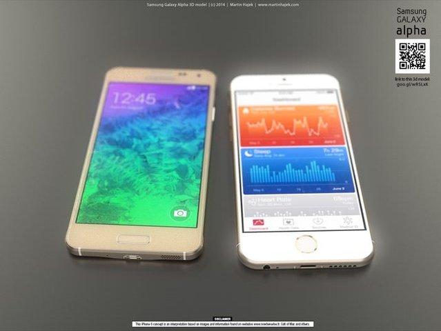 Galaxy Alpha ve iPhone 6 karşılaştırması