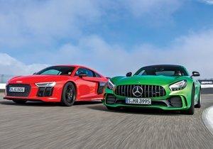 Audi R8 V10 Plus ile Mercedes-AMG GT R karşı karşıya!