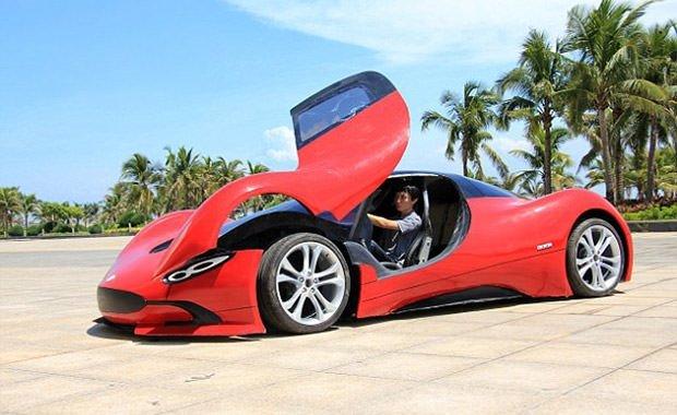 9 bin liraya spor otomobil yaptı