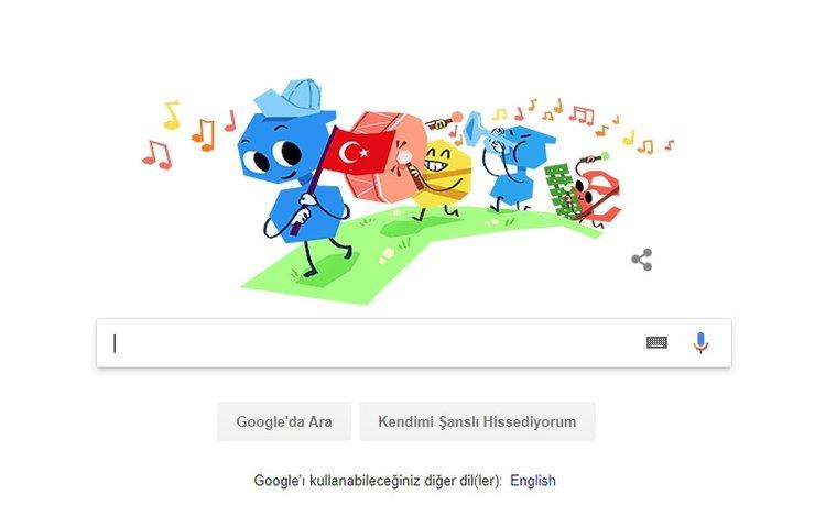 Google'dan Ulusal Egemenlik ve Çocuk Bayramı Doodle'ı
