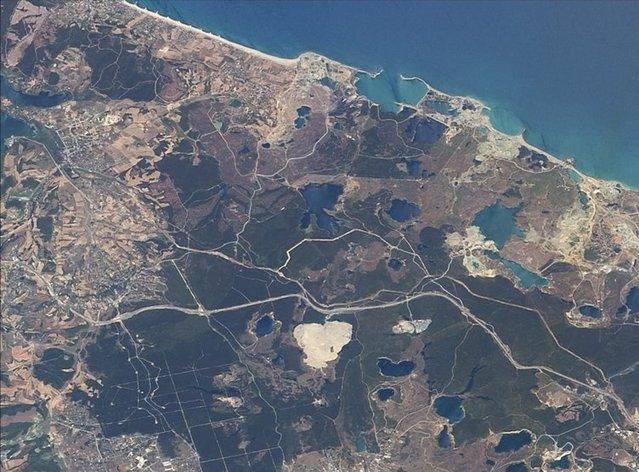 3. Havalimanı'nın inşası uzaydan görüntülendi
