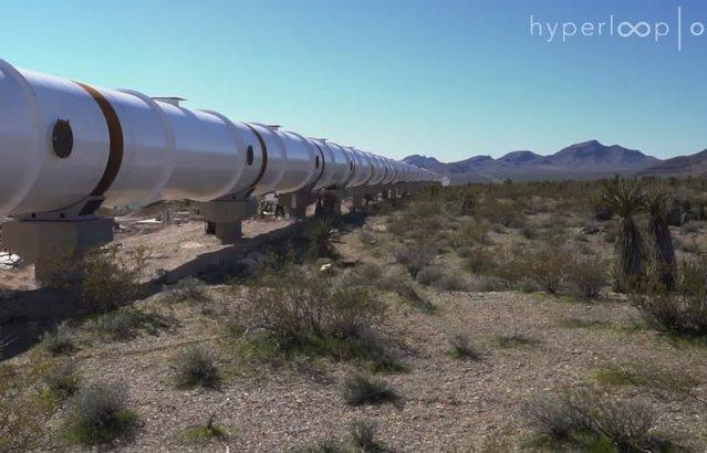 Süper-hızlı Hyperloop One projesinden yeni görüntüler!