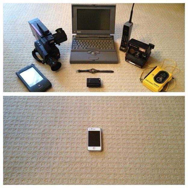 Teknolojinin ne kadar geliştiğini gösteren 22 görüntü