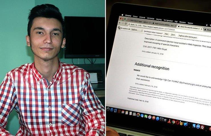 Türk öğrenci Apple'ın teşekkür listesine de girdi