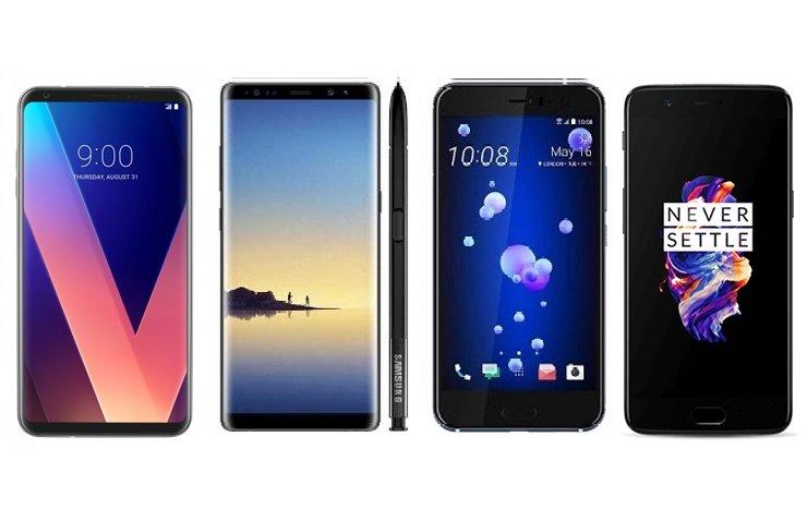 LG V30, GALAXY NOTE 8, ONEPLUS 5 VE HTC U11 KARŞI KARŞIYA!