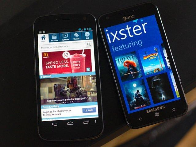 Popüler uygulamaların Android ve Windows Phone'daki görünümleri