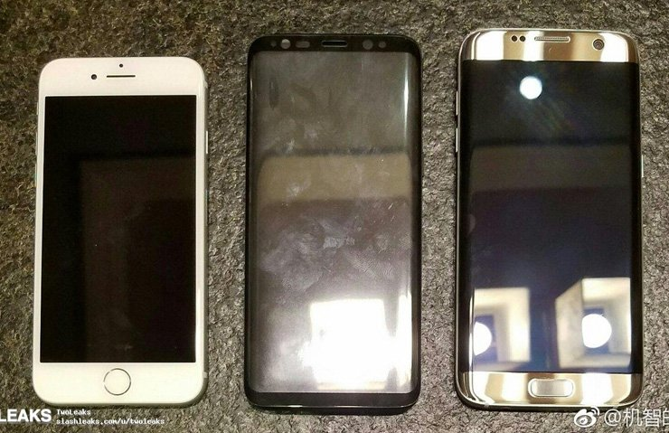 SAMSUNG GALAXY S8, İPHONE 7 VE GALAXY S7'NİN YANINDA