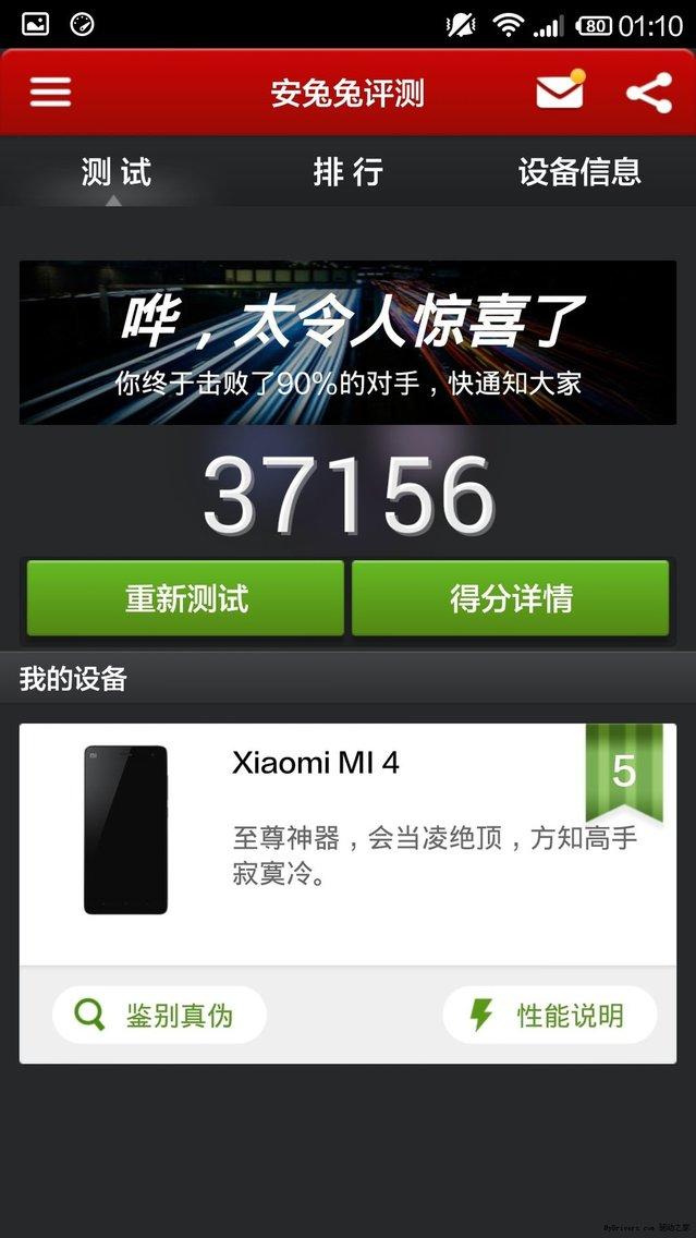 Xiaomi Mi4'ün benchmark sonucu ve kamera örnekleri